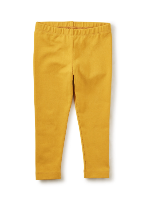 Tea Collection Solid Baby Leggings- Gold