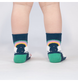 Sock It To Me Llam-where Over The Rainbow- Toddler Crew Socks