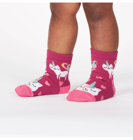 Sock It To Me Look at Me Meow- Toddler Crew Socks