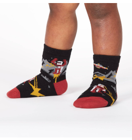 Sock It To Me Zap! Zap! Toddler Crew Socks