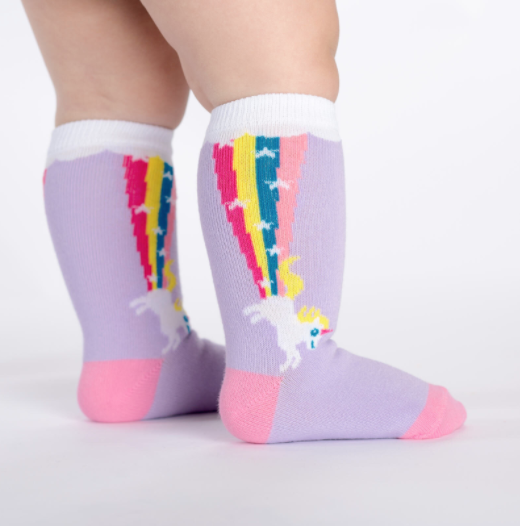 Sock It To Me Rainbow Blast- Toddler Knee Socks