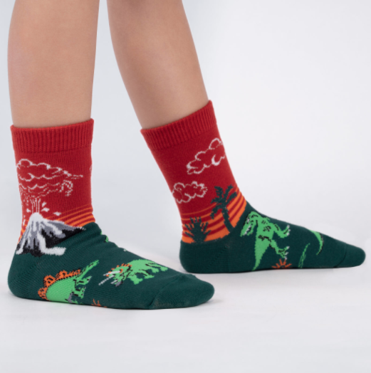 Sock It To Me Dinosaur Days- Youth Crew Socks