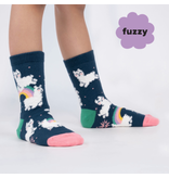 Sock It To Me Llam-where Over The Rainbow- Youth Crew Socks