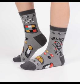 Sock It To Me Genius At Work- Youth Crew Socks