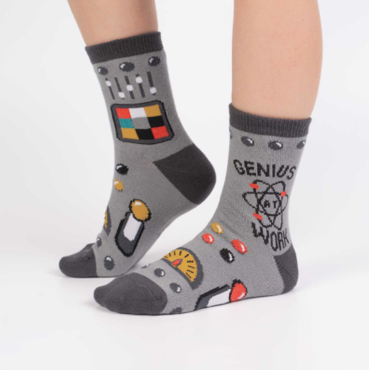 Sock It To Me Genius At Work- Youth Crew Socks