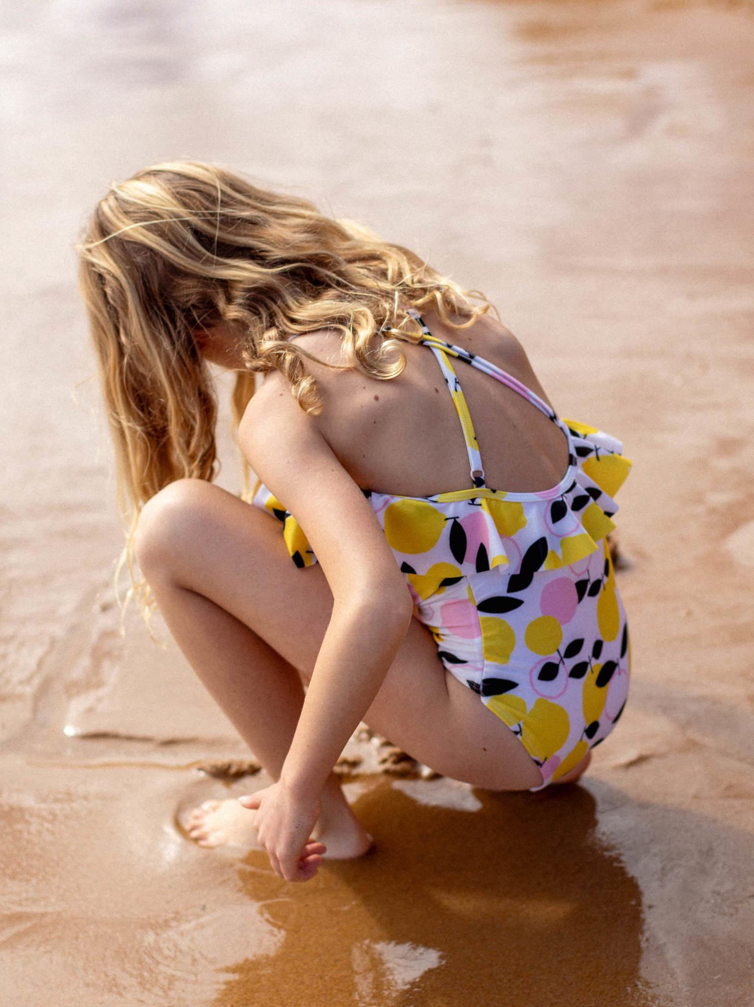 Tea Collection Flutter One-Piece Swimsuit - Lemon Drop
