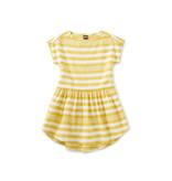 Tea Collection Button Shoulder Dress - Sulphur