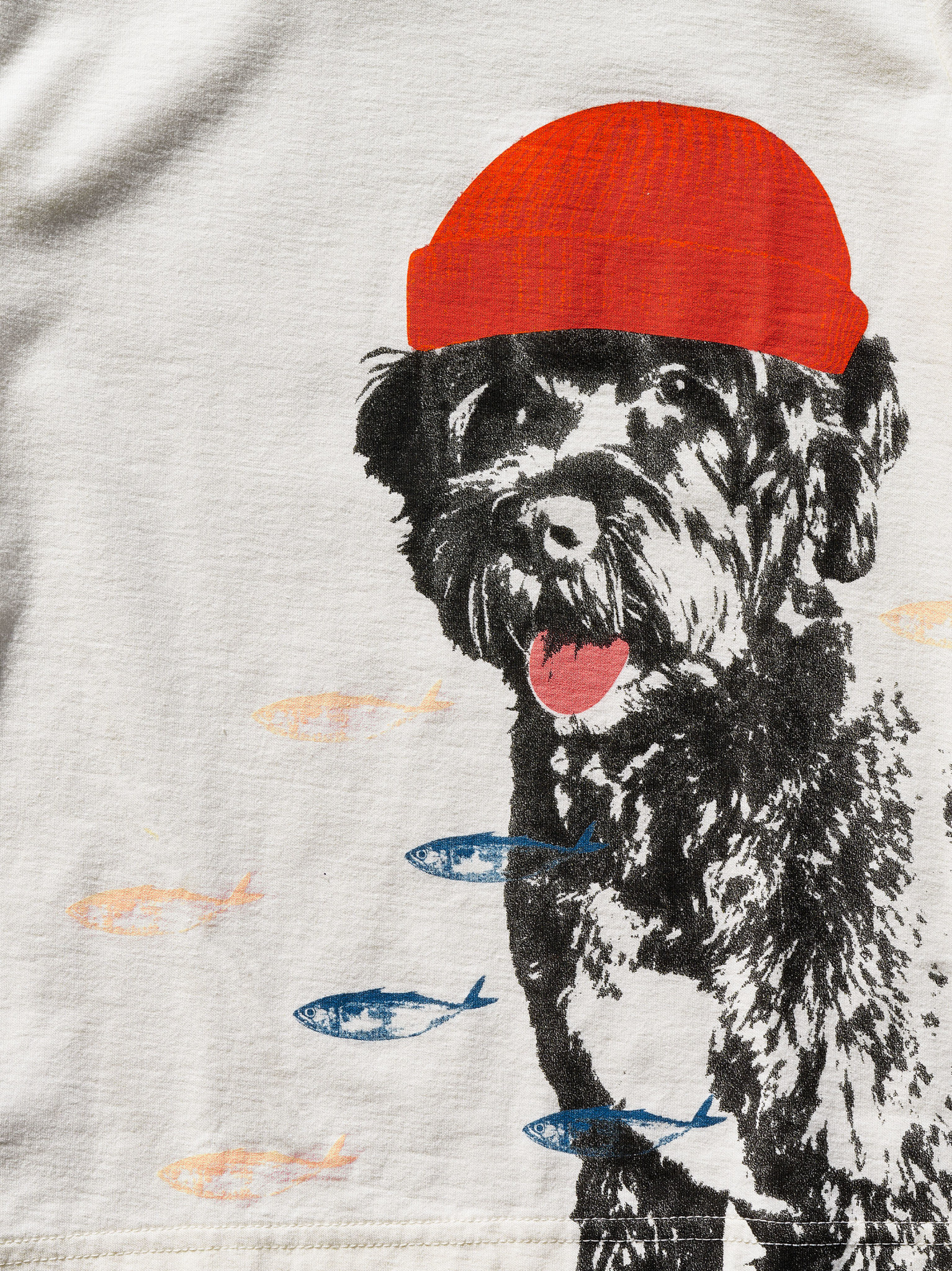Tea Collection Salty Dog UV Graphic Tee - Chalk