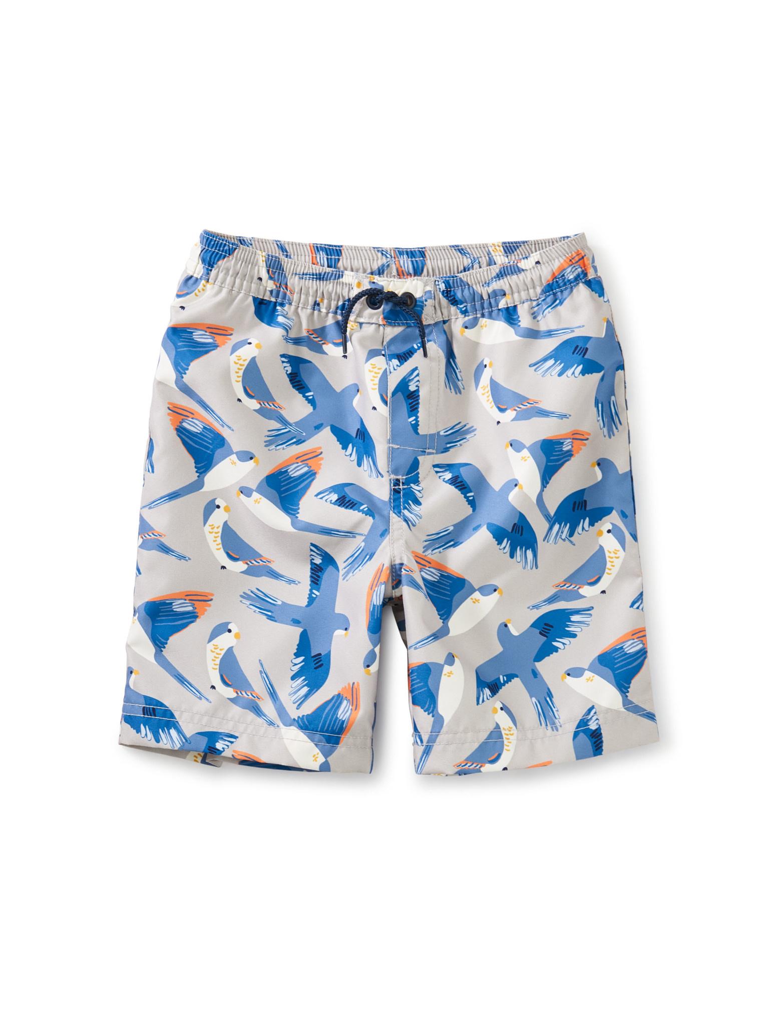 Tea Collection Full-Length Swim Trunk- Blue Birds