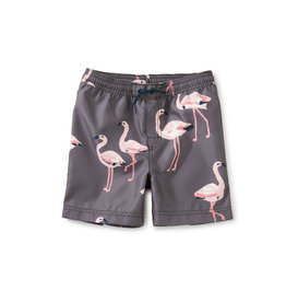 Tea Collection Mid-Length Swim Trunk- Flamingo