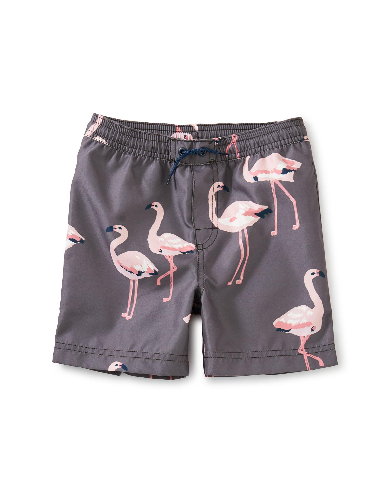 Tea Collection Mid-Length Swim Trunk- Flamingo