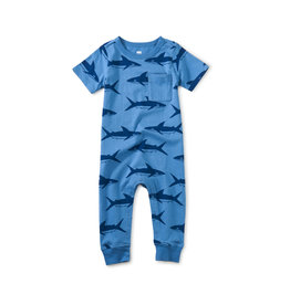 Tea Collection Romper- Bull Shark