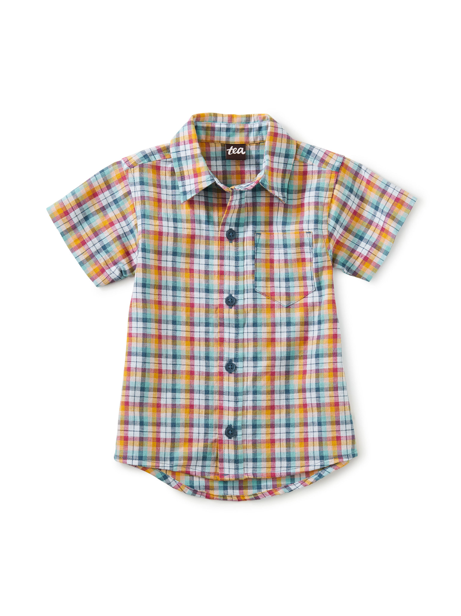 Tea Collection Button Up Baby Shirt- Spring Plaid