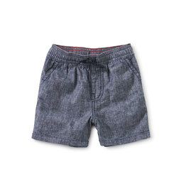 Tea Collection Chambray Discovery Baby Shorts- Indigo