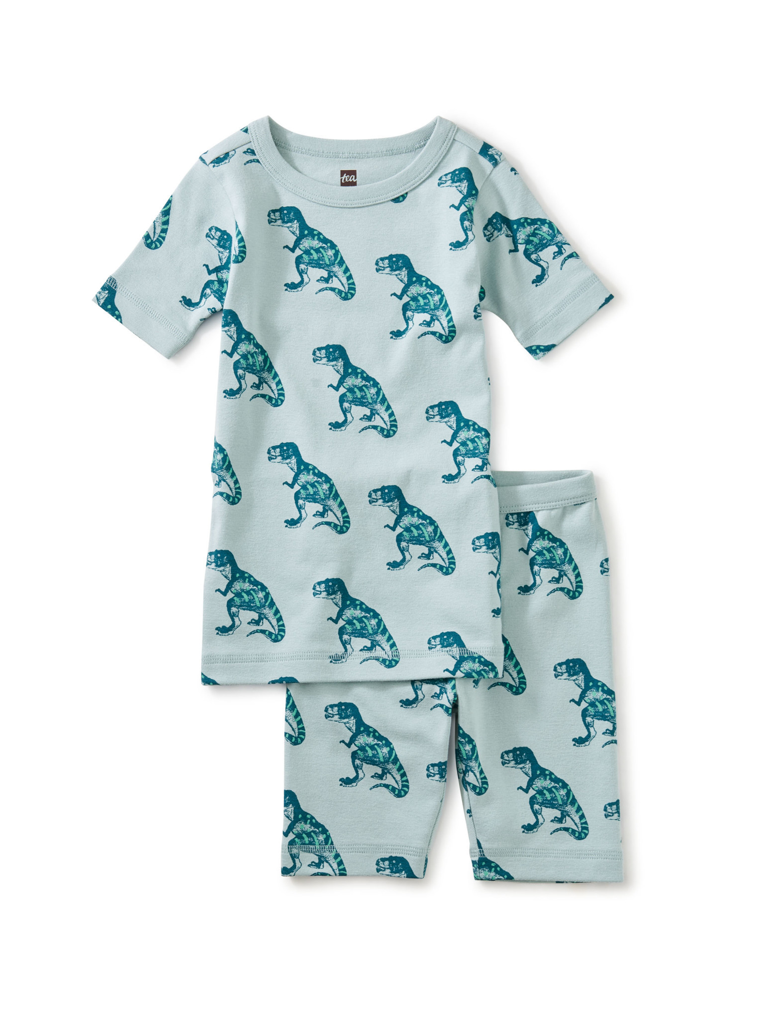 Tea Collection In Your Dreams Pajama Set - Patterned Dinosaur