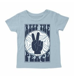 Tiny Whales Keep The Peace Tee