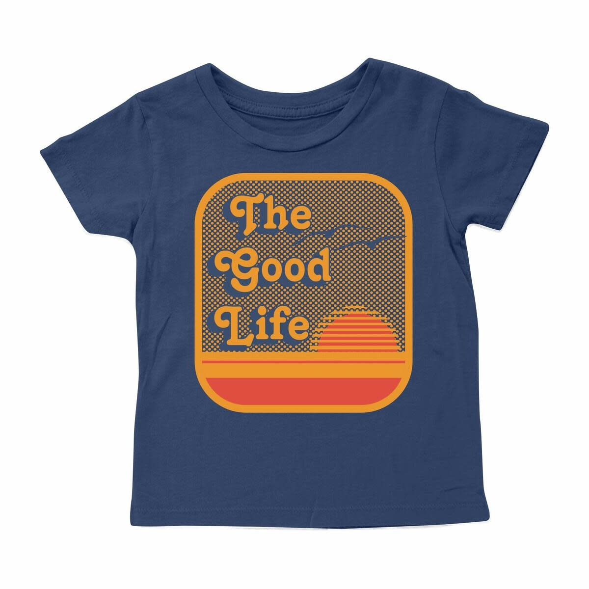 Tiny Whales The Good Life Baby Tee - Navy