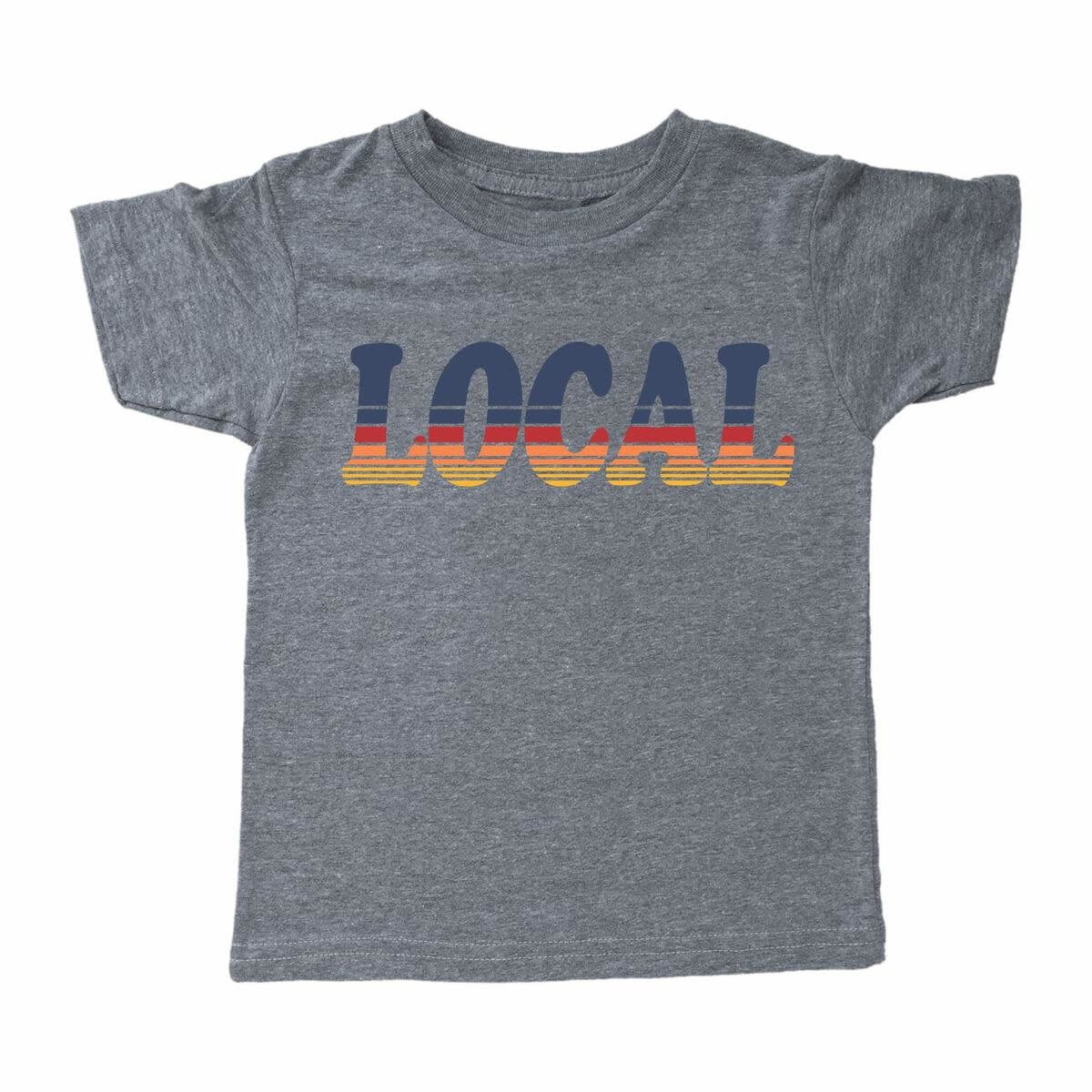 Tiny Whales Local Baby Tee - Tri Gray