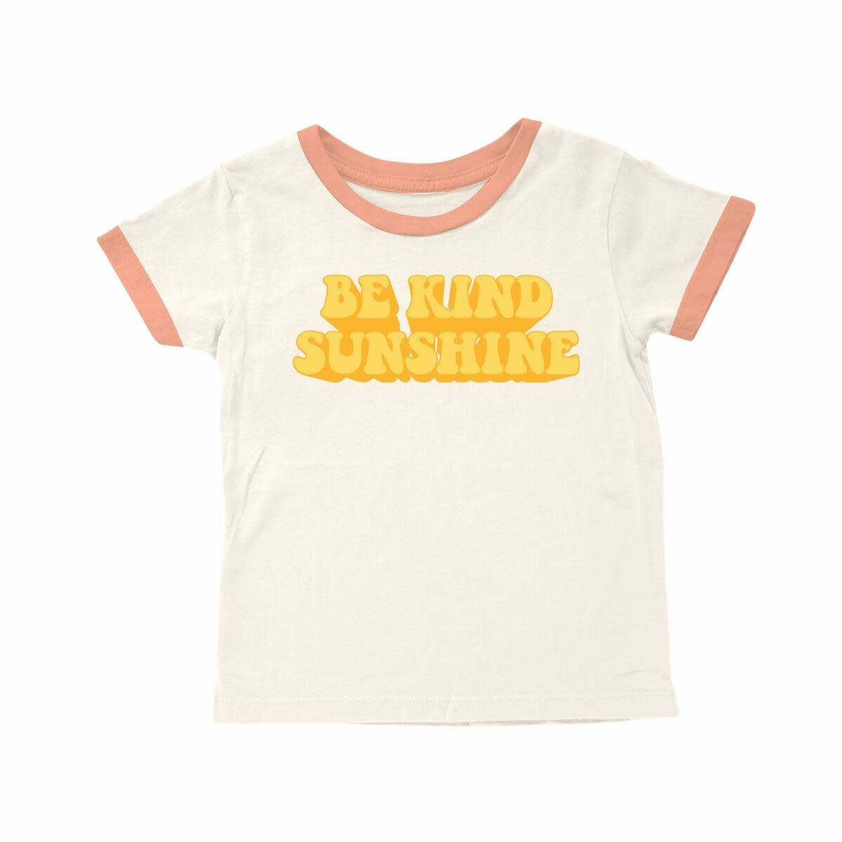Tiny Whales Be Kind Sunshine Tee -  Natural