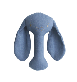 Alimrose Bunny Stick Rattle - Chambray