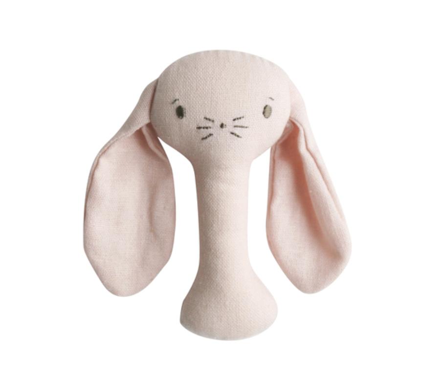 Alimrose Bunny Stick Rattle - Pink