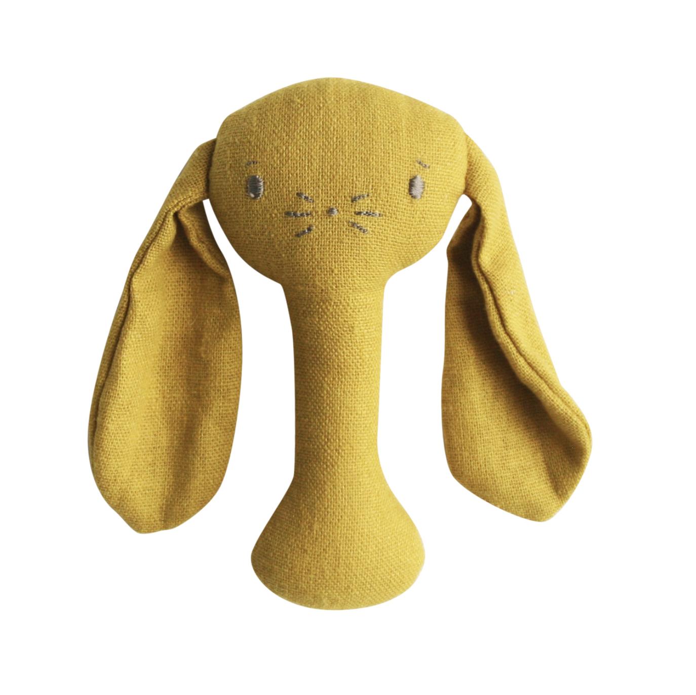 Alimrose Bunny Stick Rattle - Butterscotch