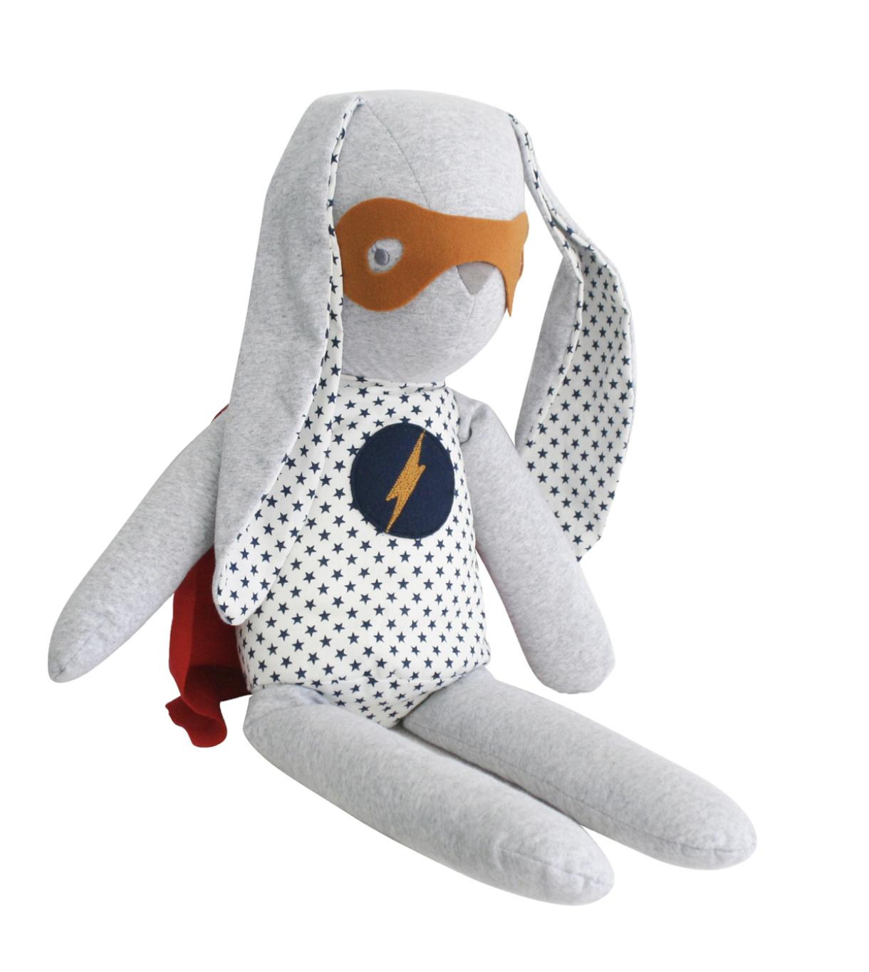 Alimrose Hero Cuddle Bunny - Navy Star
