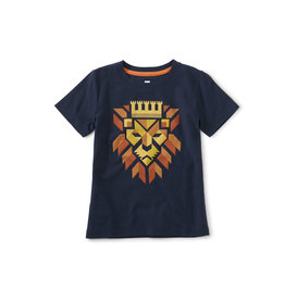 Tea Collection Regal Roar Graphic Tee- Indigo