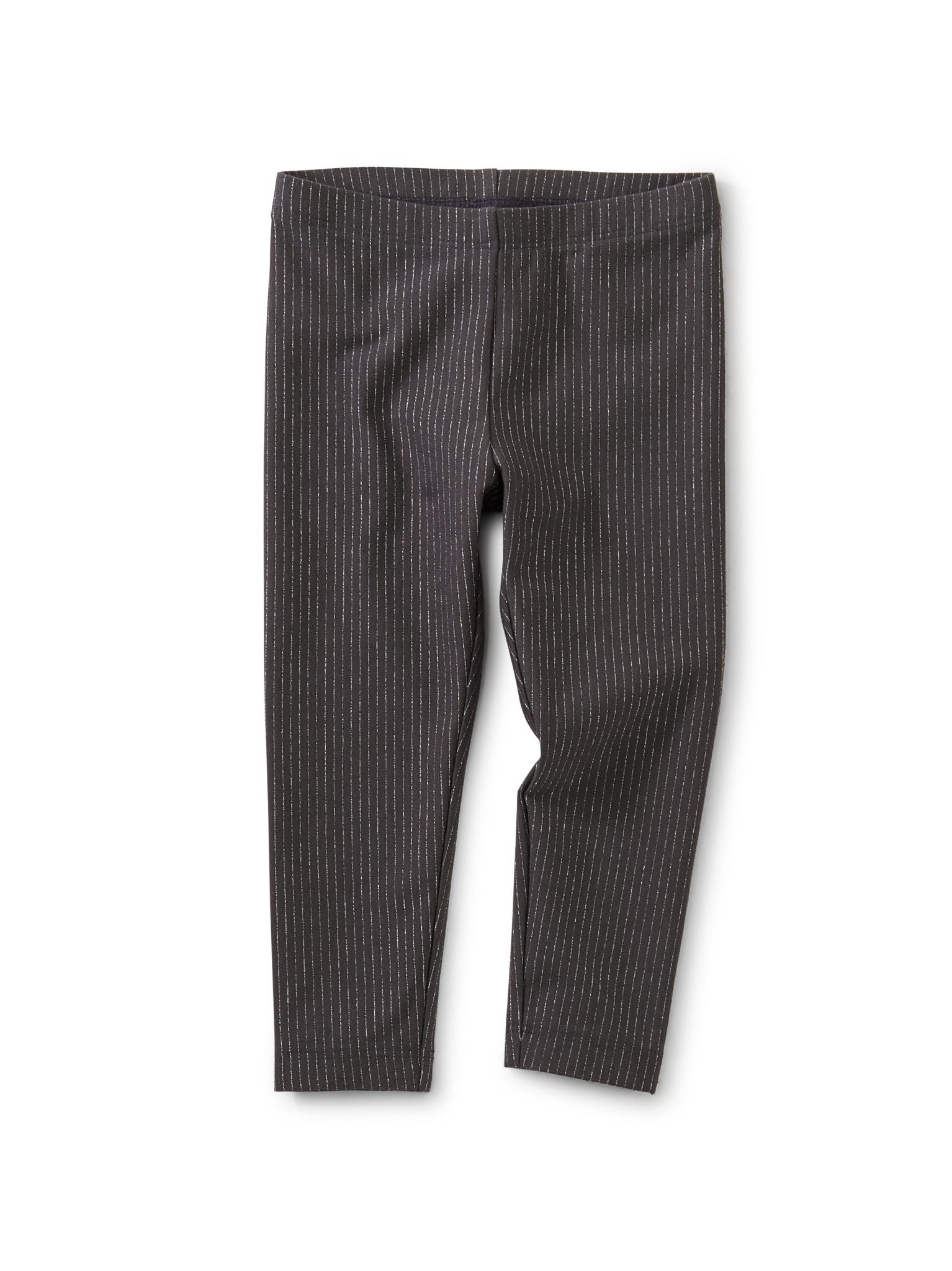 Tea Collection Sparkle Stripe Baby Leggings- Pepper
