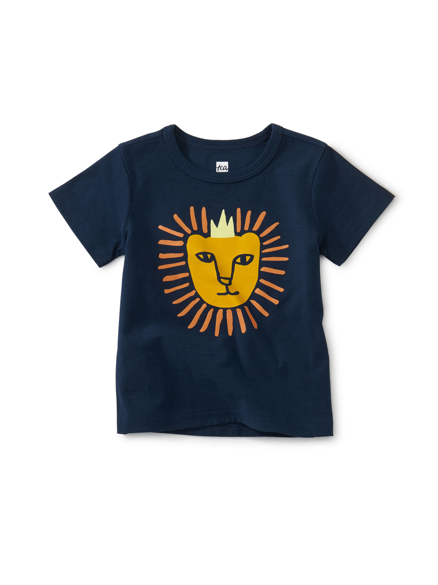 Tea Collection King of the Jungle Graphic Baby Tee -Whale Blue
