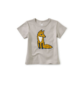 Tea Collection Sly Fox Double-Sided Baby Tee