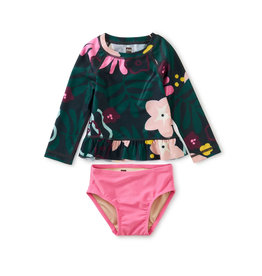 Tea Collection Rash Guard Baby Swim Set- Tropical Floral