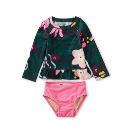 Tea Collection Rash Guard Baby Swim Set- Tropical Floral