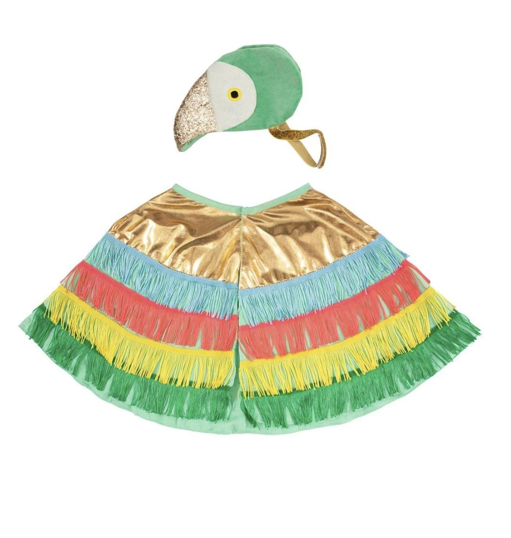 Meri Meri Parrot Fringed Cape Dress Up