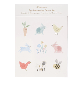 Meri Meri Spring Bunny Egg Decorating Tattoo Kit
