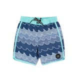 Feather 4 Arrow Cosmic Wave Baby Boardshort - Navy