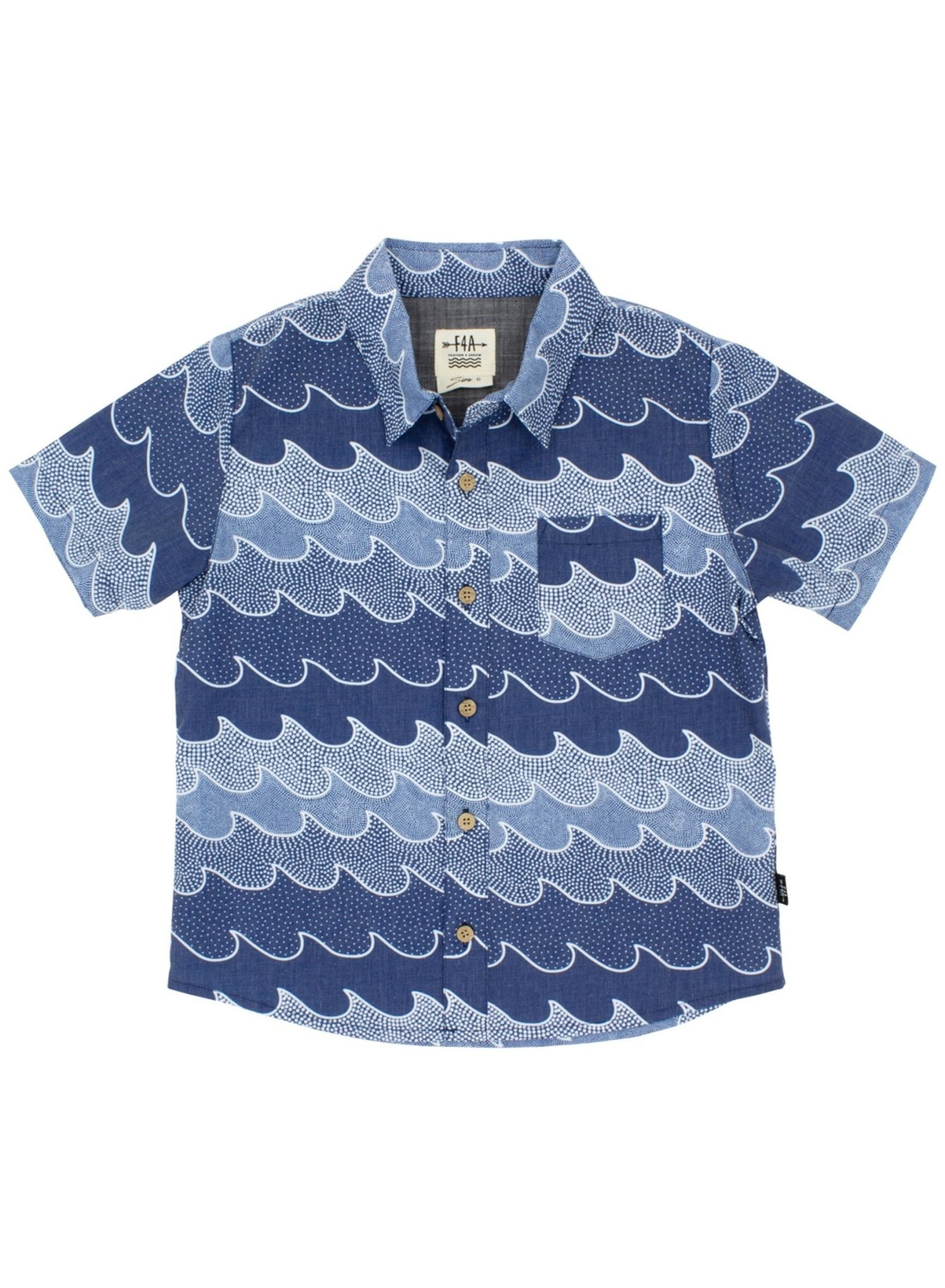 Feather 4 Arrow Cosmic Baby Button Down Woven Shirt