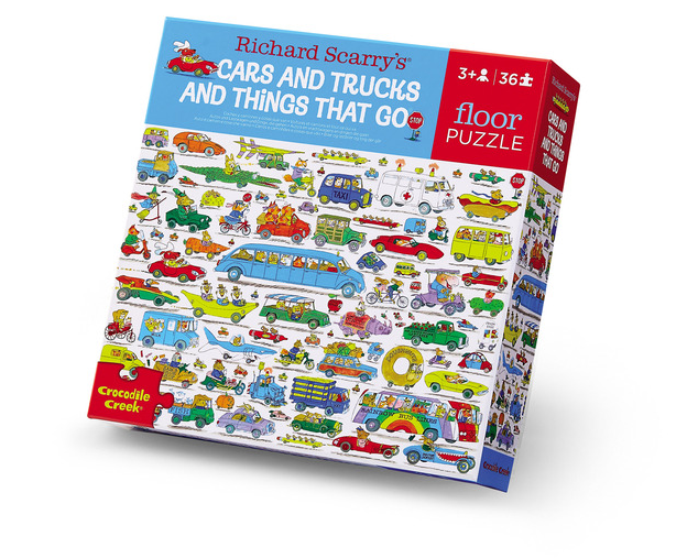 Crocodile Creek Floor Puzzle - Cars and Trucks and Things That Go
