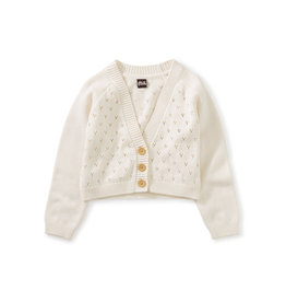 Tea Collection Pointelle Cardigan- Chalk