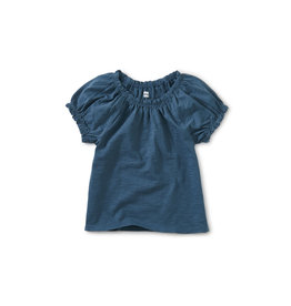 Tea Collection Puff Sleeve Top- Indian Teal