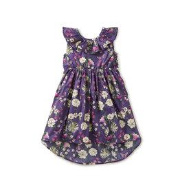 Tea Collection Hi-Lo Ruffle Neck Dress