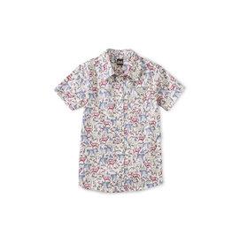 Tea Collection Button Up Woven Shirt