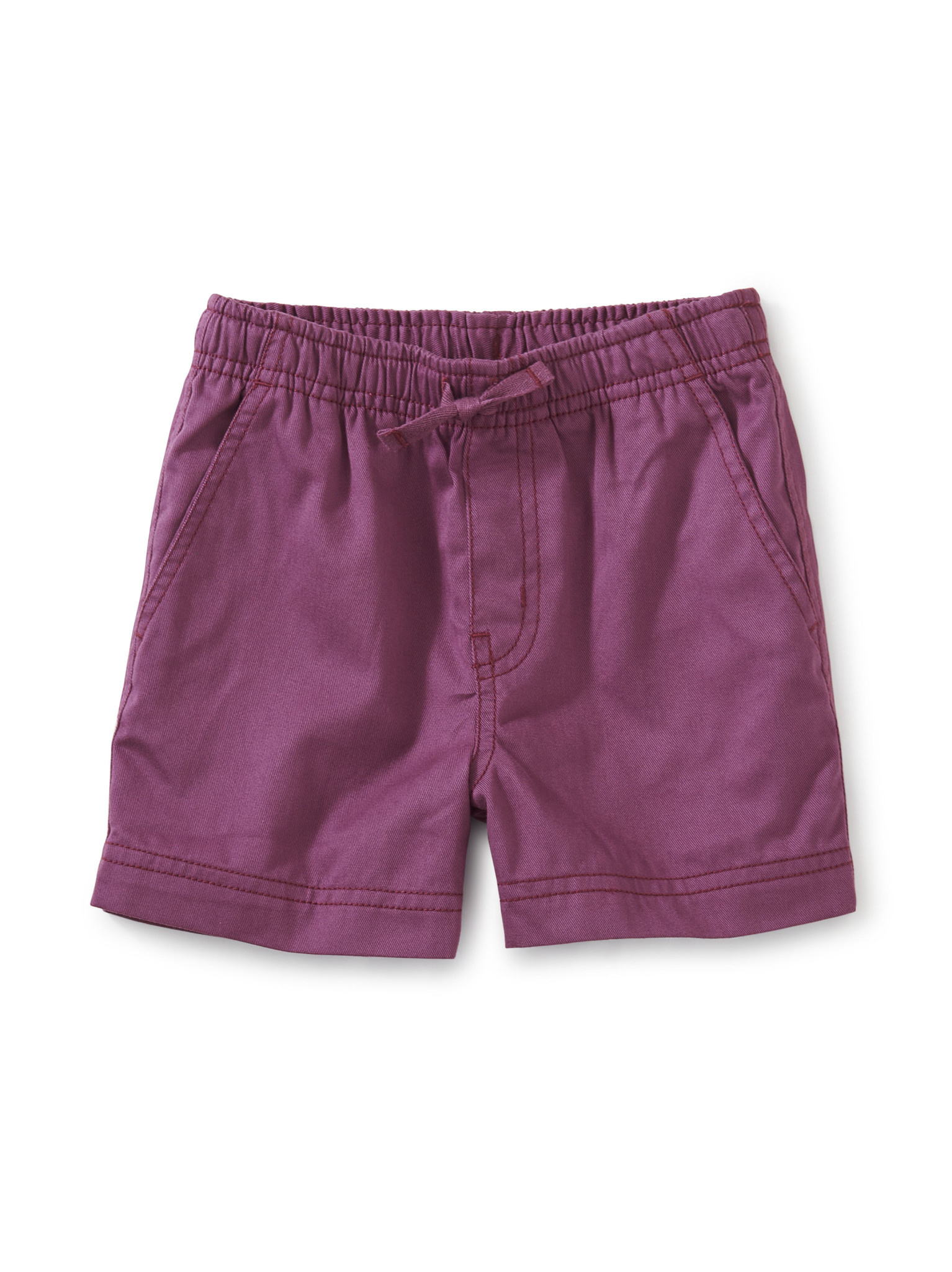 Tea Collection Twill Sport Shorts- Cassis