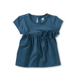 Tea Collection Pretty Petals Baby Top- Indian Teal