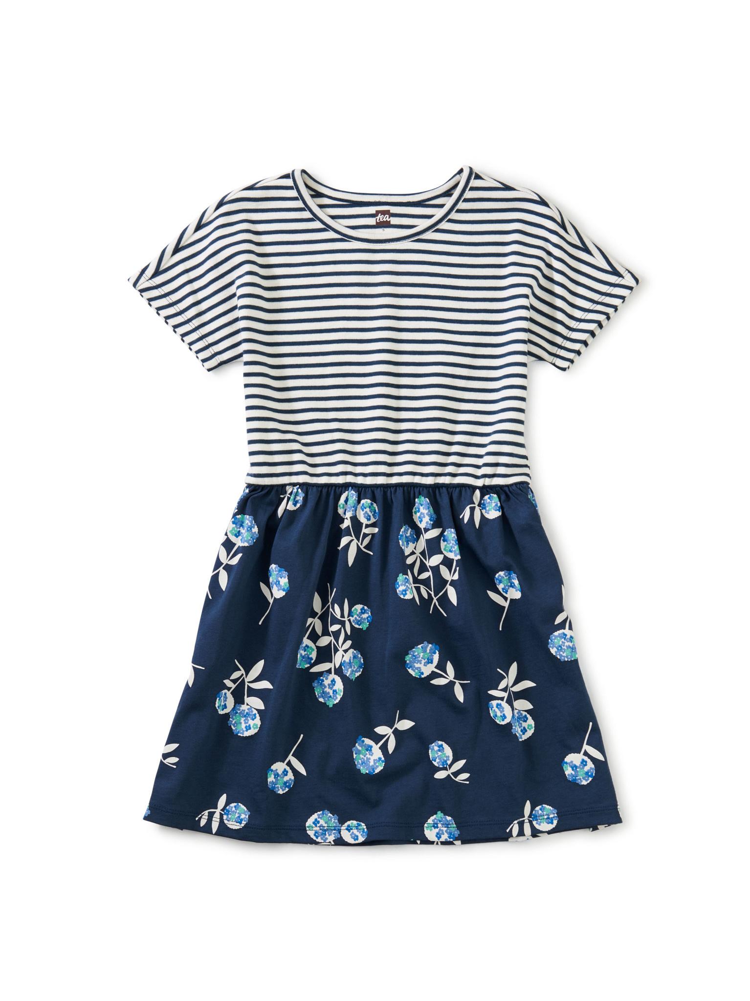 Tea Collection Print Mix Twirl Dress - Flower