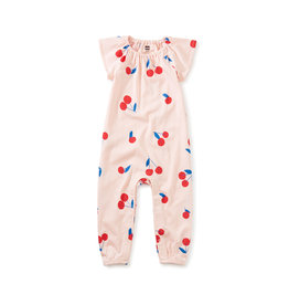 Tea Collection Flutter Sleeve Baby Romper- Giant Ginjas