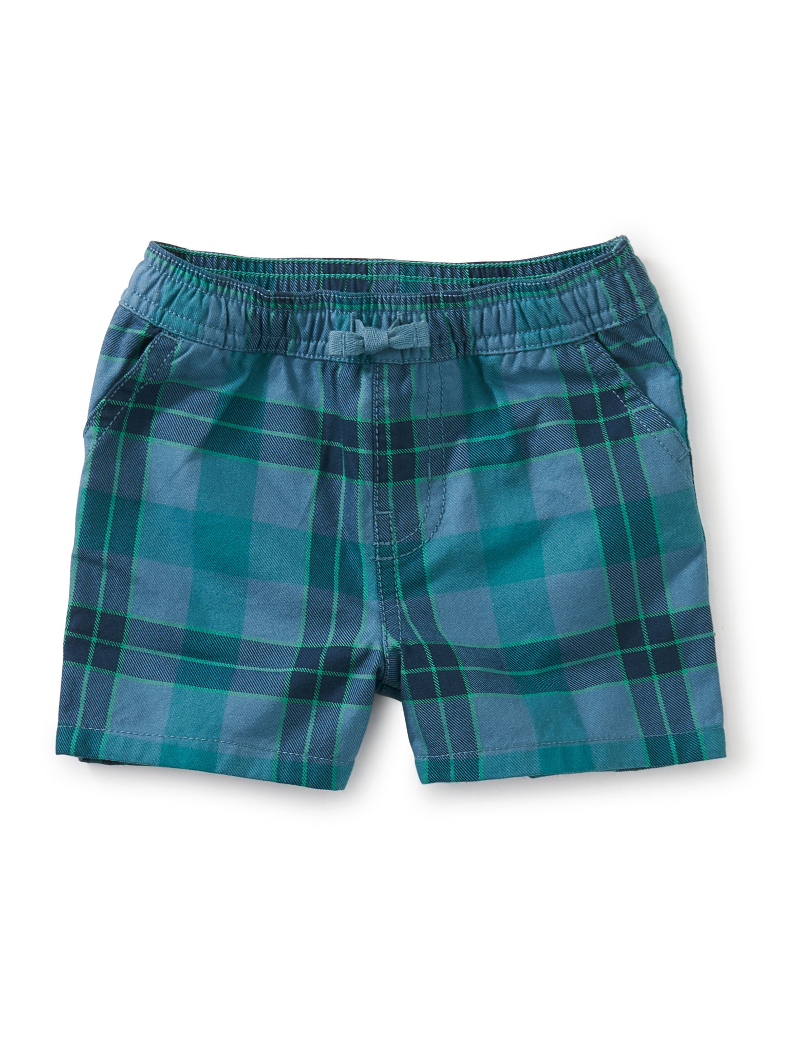 Tea Collection Plaid Discovery Baby Shorts- Tonal Plaid