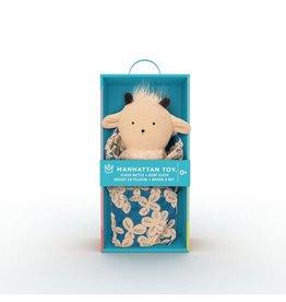Manhattan Toys Goat Rattle + Burp Cloth