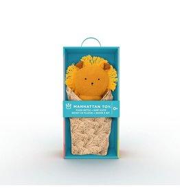 Manhattan Toys Lion Rattle + Burp Cloth