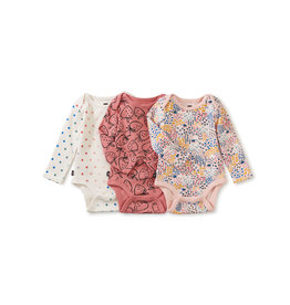 Tea Collection Bodysuit Three-Pack- Strawberries